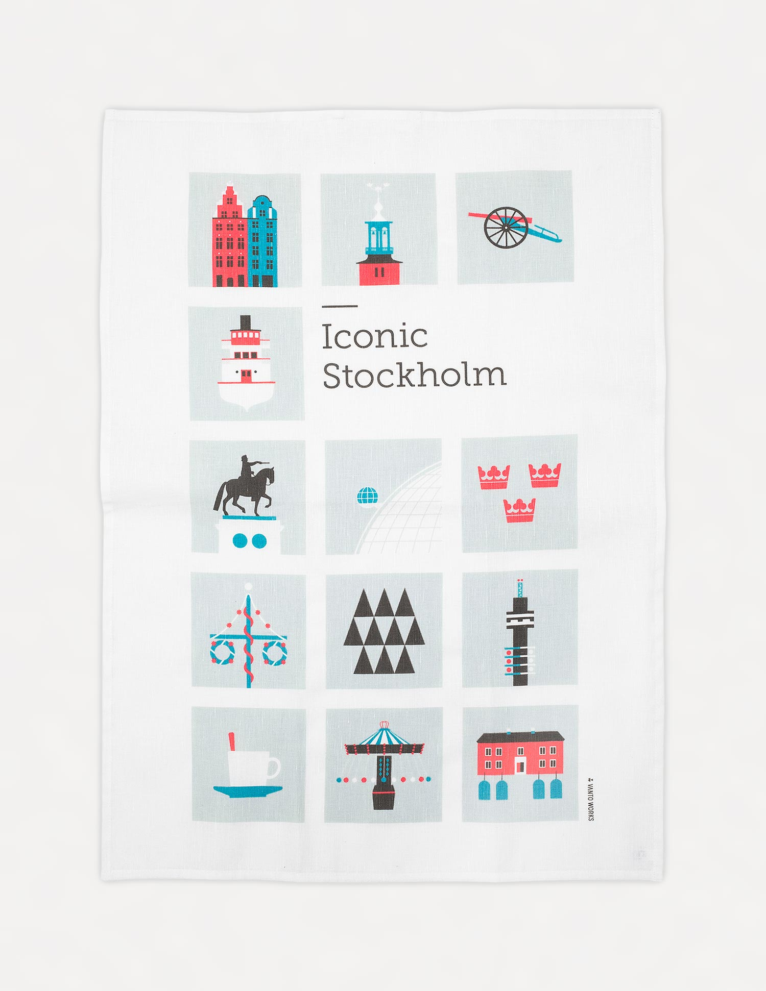 Iconic Stockholm kitchen towel